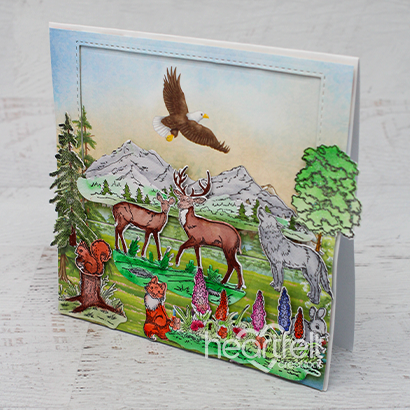 Heartfelt Creations - Create a 'scape Nature Stamp and Die