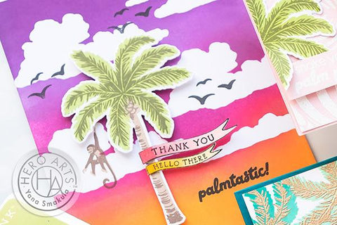 Hero Arts - Colour Layerung Palm Tree Stamp and Frame Cut Dies