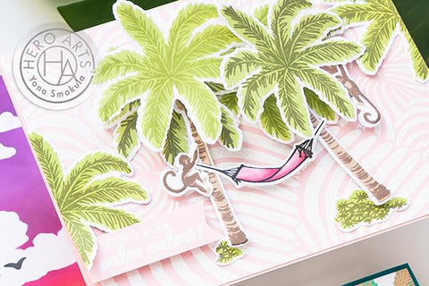 Hero Arts - Colour Layering Palm Tree Stamp and Frame Cut Dies