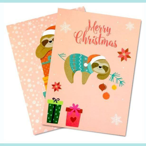 Poppy Crafts - Designer A5 Paper Pad - Christmas Sloth