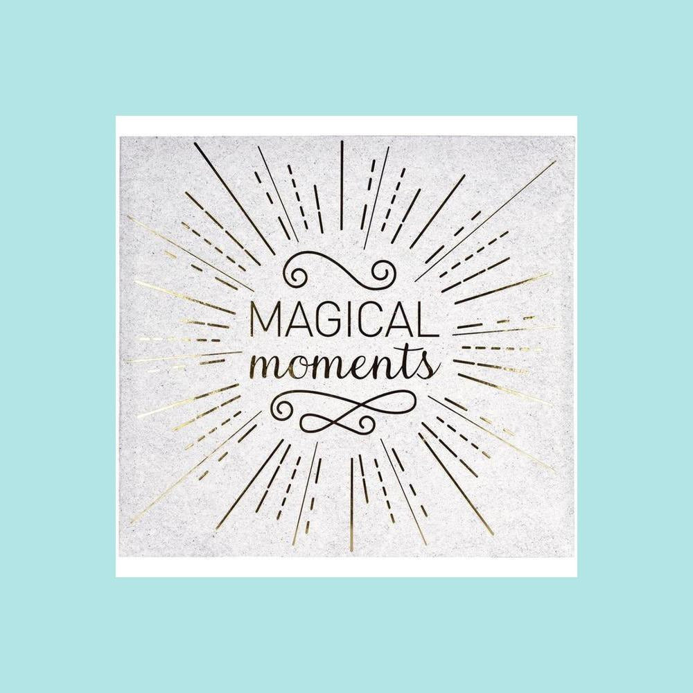 "White Smoke MBI Expressions - MBI Expressions Post Bound Album 12""x12"" - Magical Moments"