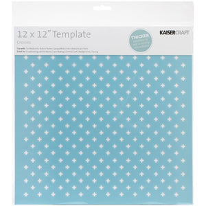 "Kaisercraft - Designer Template 12""X12"" - Crosses"