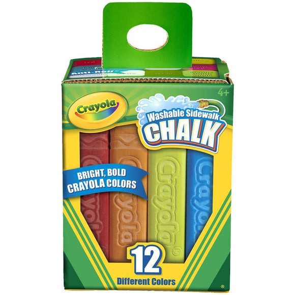 Crayola Washable Sidewalk Chalk - 12 Colours
