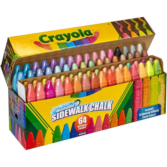 Crayola Washable Sidewalk Chalk - 64 Colours