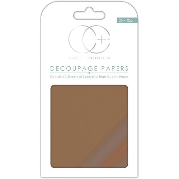 Craft Consortium - Decoupage Papers - Metallic Copper