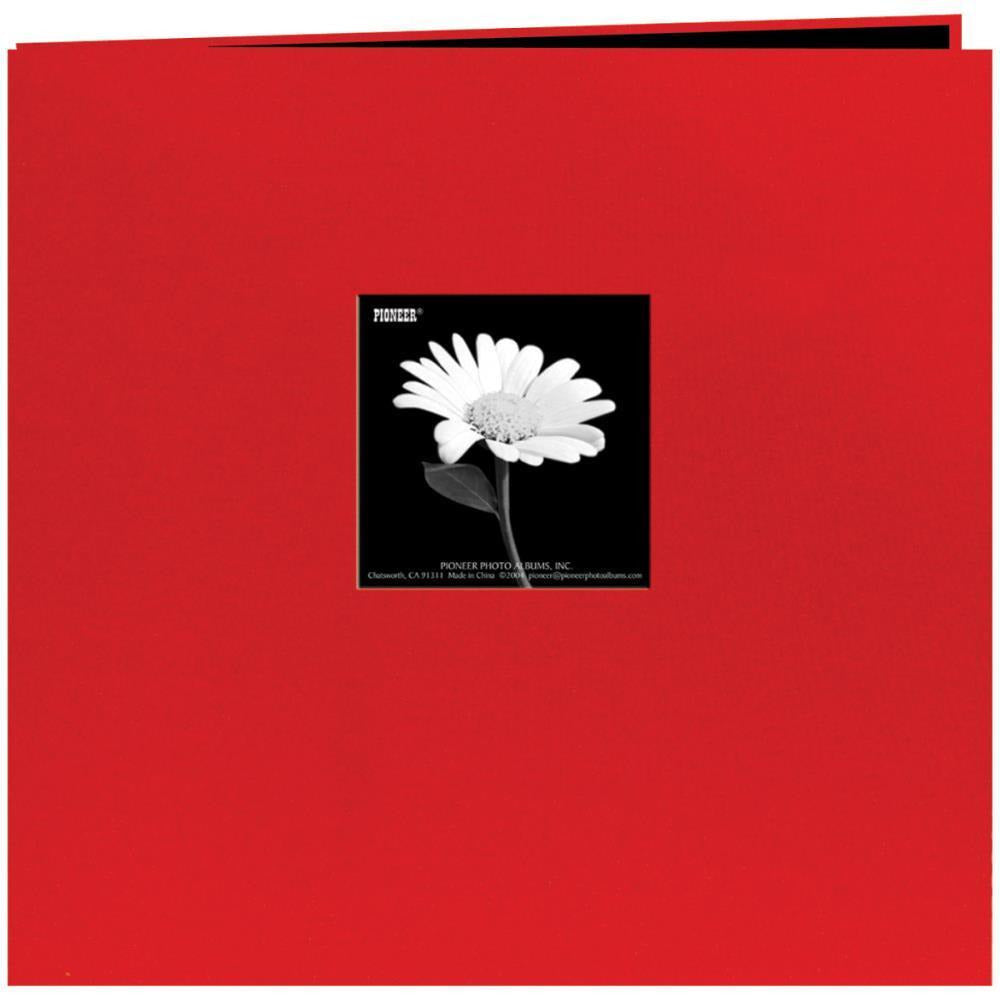 "Pioneer Book Cloth Cover Post Bound Album 12""X12"" - Red"