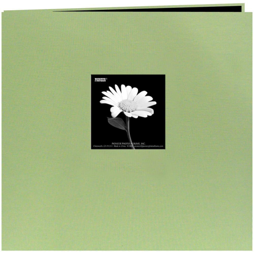 "Pioneer Book Cloth Cover Post Bound Album 12""X12"" - Sage Green"