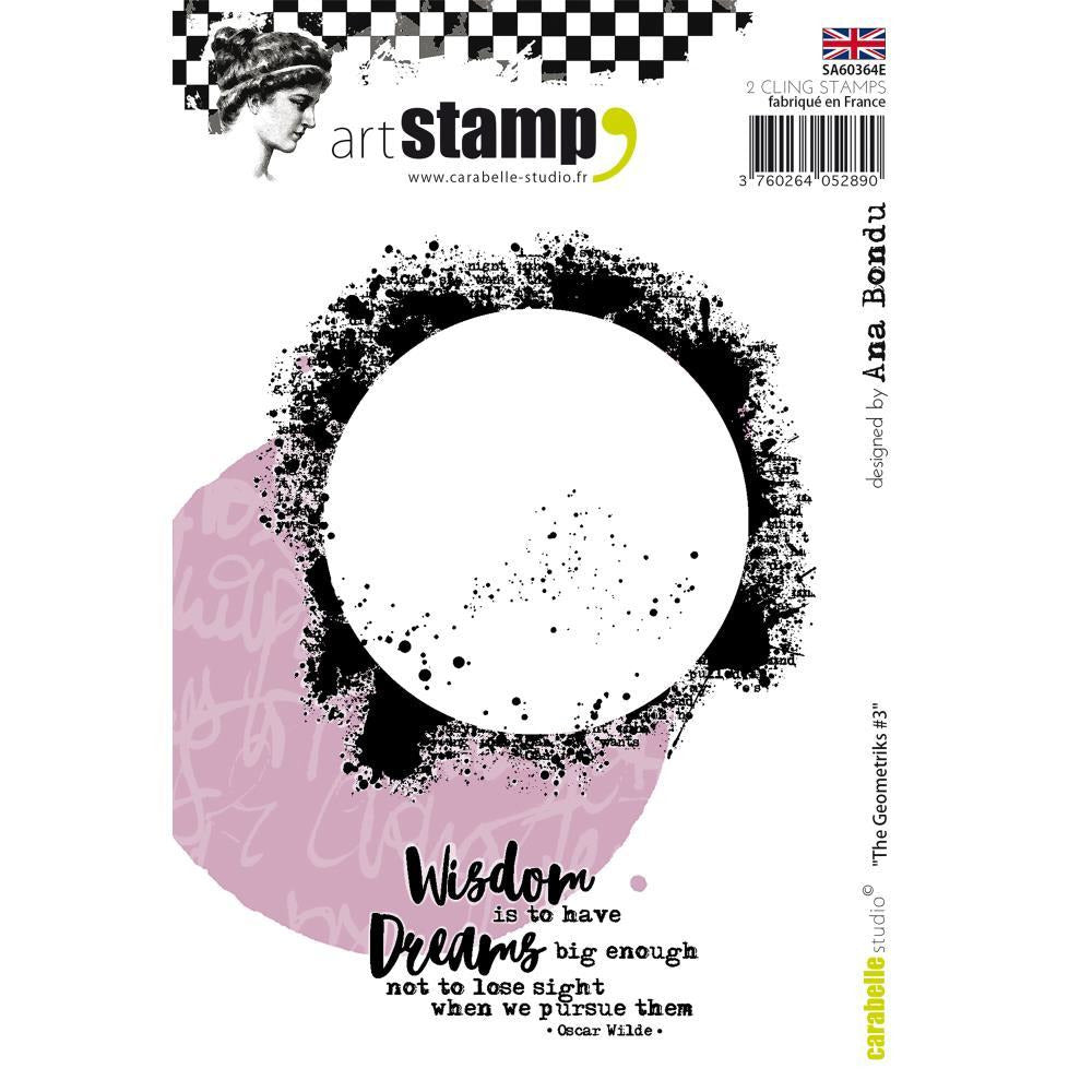 Carabelle Studio - Carabelle Studio Cling Stamp A6 By Ana Bondu - The Geometriks 3