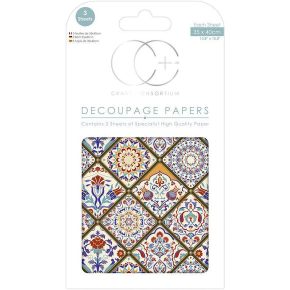 Craft Consortium - Decoupage Papers - Turkish Delight