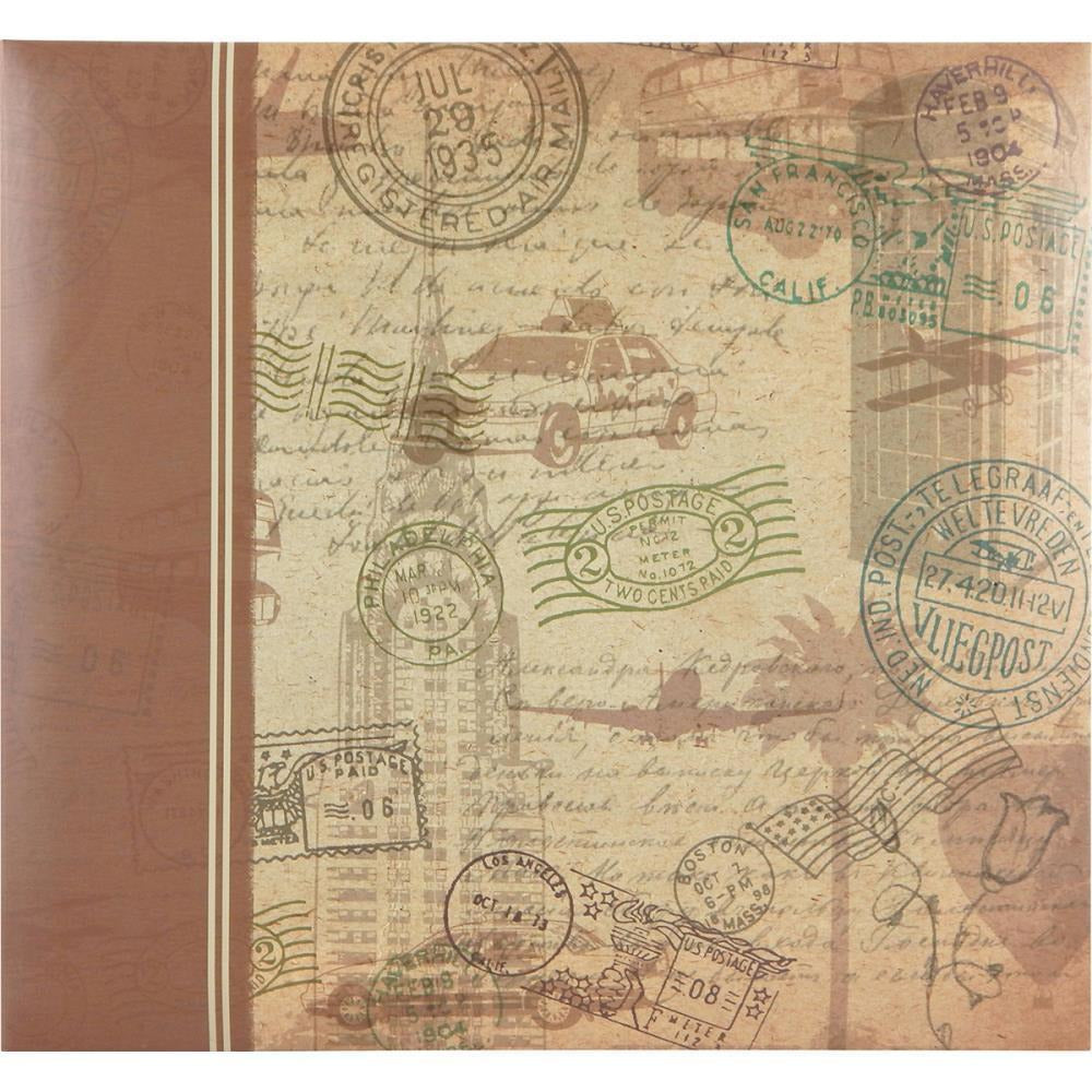 "MBI Expressions - Postmark Travel Post Bound Album 12""x12"""