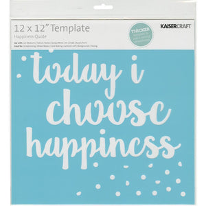 "Kaisercraft - Designer Template 12""X12"" - Happiness Quote"