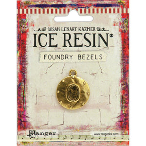 Ice Resin Foundry Bezel Collection - Gold Round Cabby