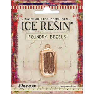 Resin Foundry Bezel Collection - Rose Gold Rectangle Disco