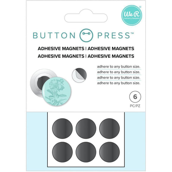 We R Memory Keepers - Button Press Adhesive Magnets 6/Pkg