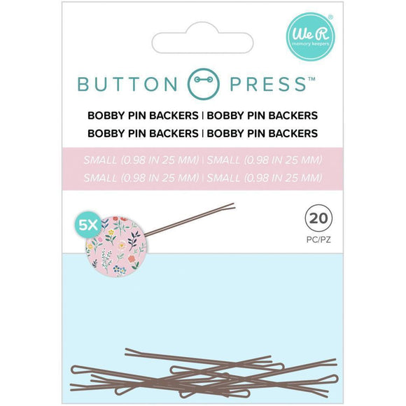 We R Memory Keepers - Button Press Bobby Pin Backers
