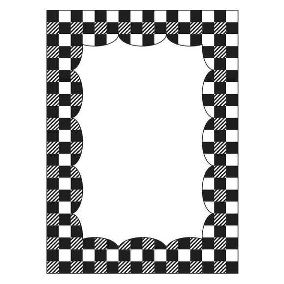 Darice® - Background Embossing Folder - Gingham Border
