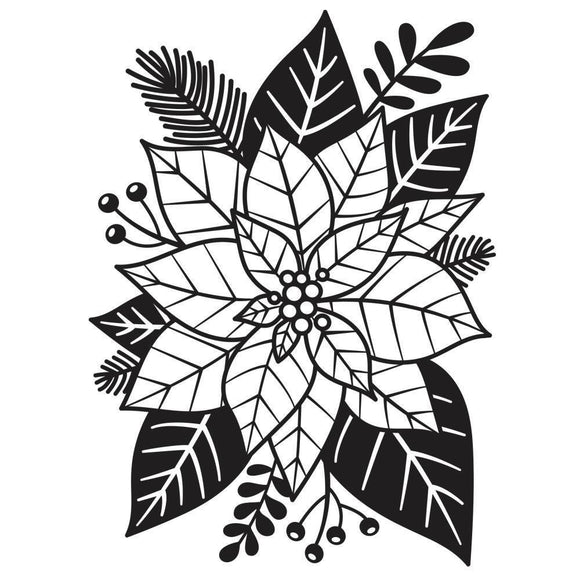 Darice® - Background Embossing Folder - Poinsettia
