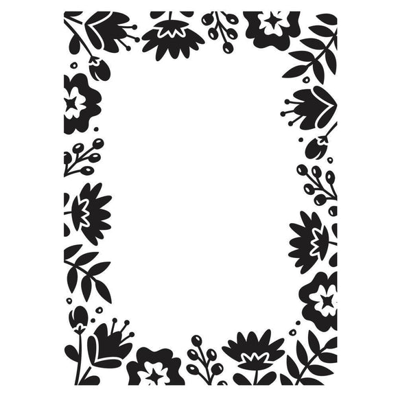 Darice® - Background Embossing Folder - Floral Border