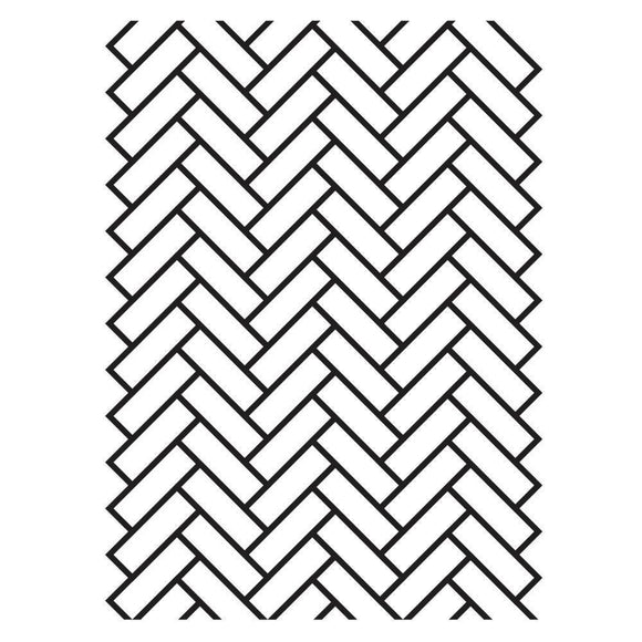Darice® - Background Embossing Folder -  Herringbone Brick