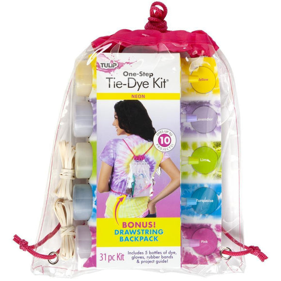 Tulip One-Step Tie-Dye Backpack Kit - Neon