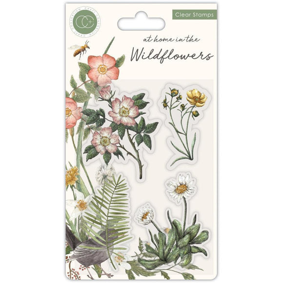 Craft Consortium - A5 Clear Stamps - Flora, At Home In The Wildflowers
