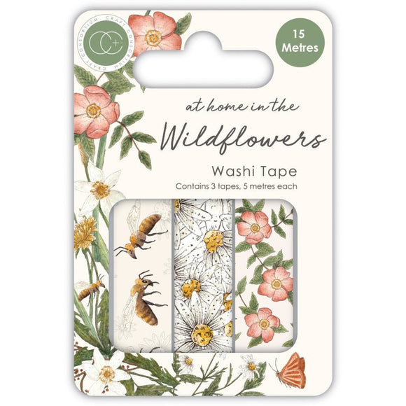 Craft Consortium - Washi Tape 3/Pkg - At Home In The Wildflowers