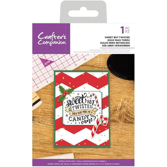 Crafter's Companion - Clear Acrylic Quirky Stamp - Sweet But Twisted