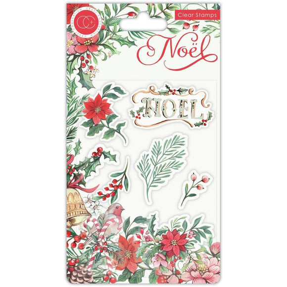 Craft Consortium - Noel - Stamp Set - Flora