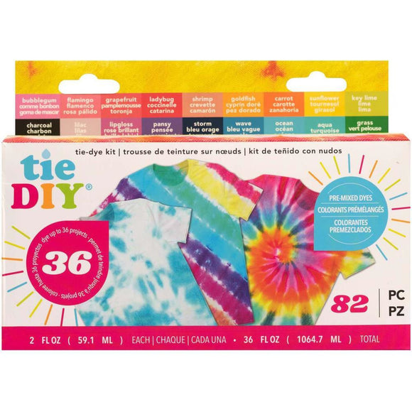 American Crafts Medium Tie Dye Kit 2oz 82/Pkg