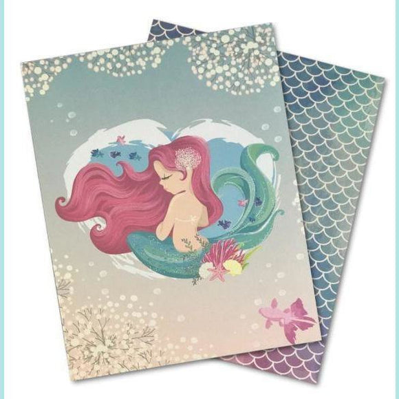 Poppy Crafts -  Designer A5 Paper Pad - Mermaid 1