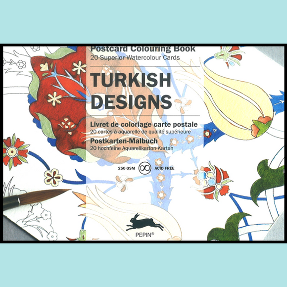 Turkish - Pepin Postcard Colouring Book
