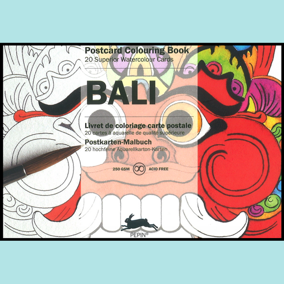 Bali - Pepin Postcard Colouring Book
