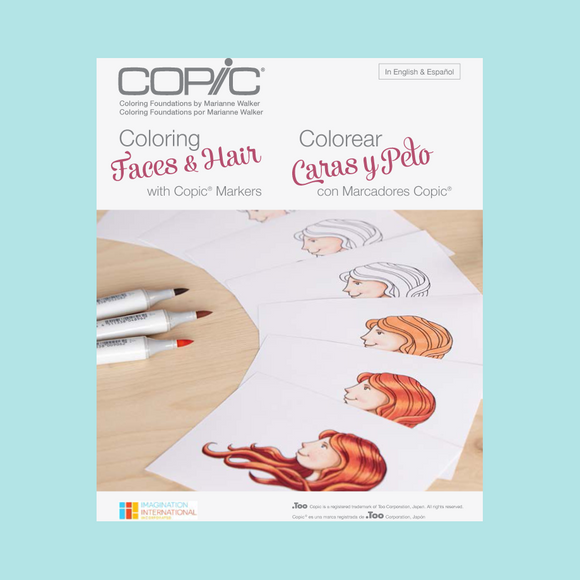 Copic Colouring Foundations Book - Colouring Faces & Hair