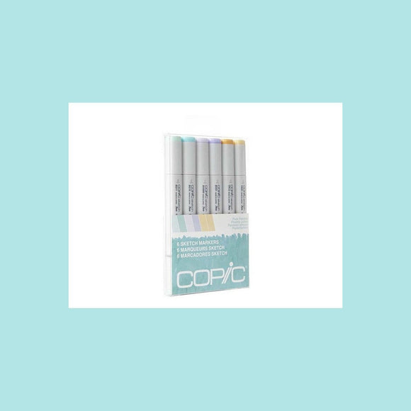 Copic Sketch Set 6 Pale Pastels