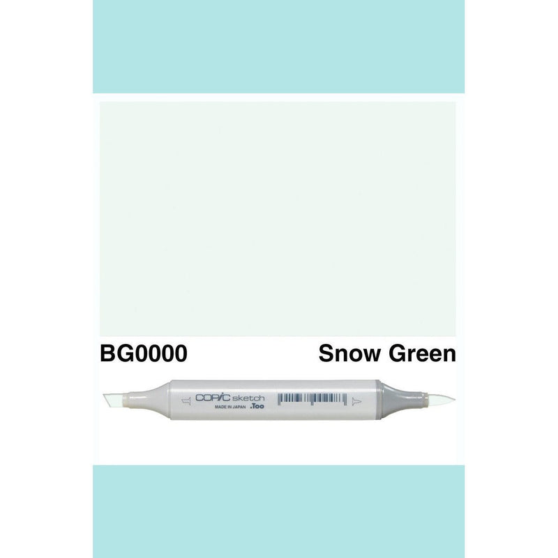 Copic Markers SKETCH  - Snow Green BG0000