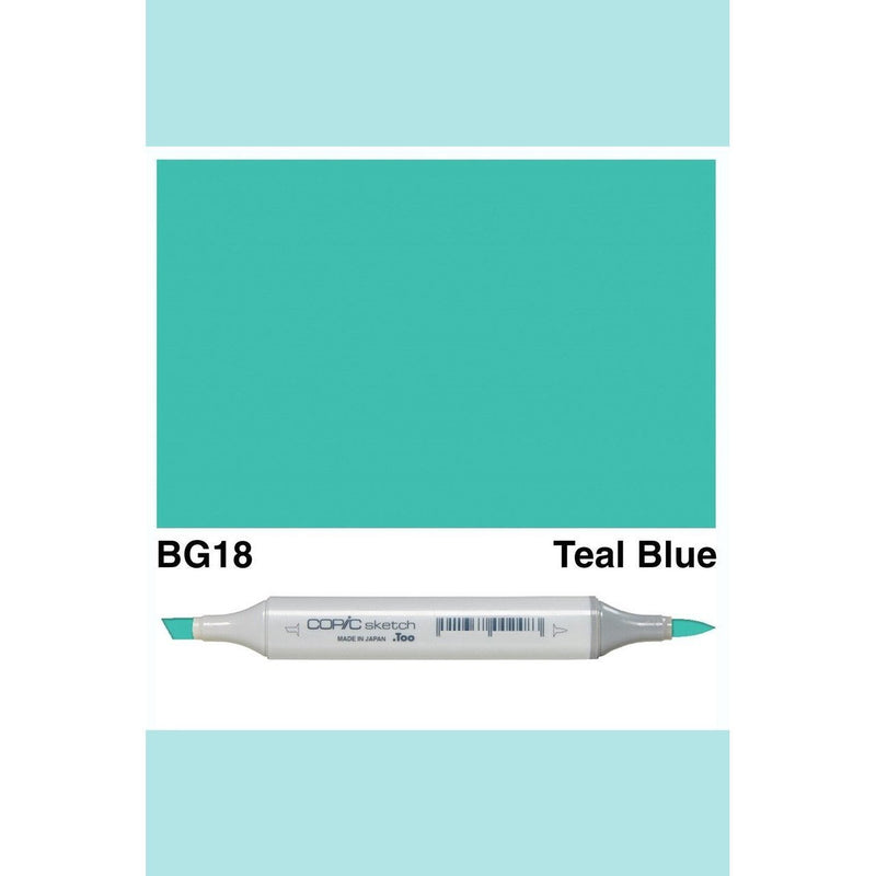 Copic Markers SKETCH  - Teal Blue BG18