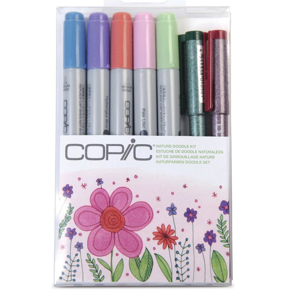 Copic Markers CIAO  - 7 Piece Doodle Kits - Nature