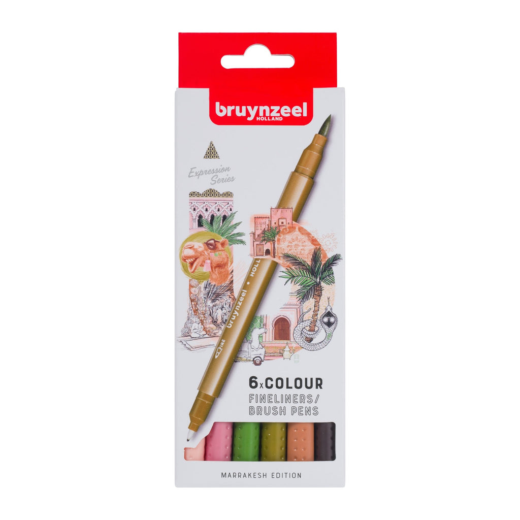 Bruynzeel - Brush Pen Fineliner Set SET 6