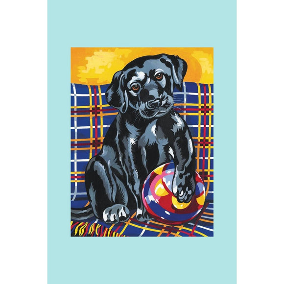 Reeves Painting By Numbers - Playful Black Lab- Medium