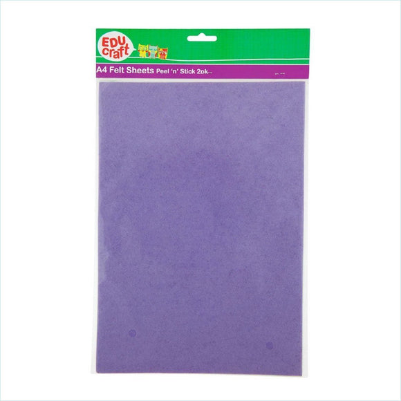 Educraft - A4 Felt Sheets Peel n Stick