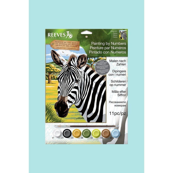 Reeves Painting By Numbers - Zebra - Medium
