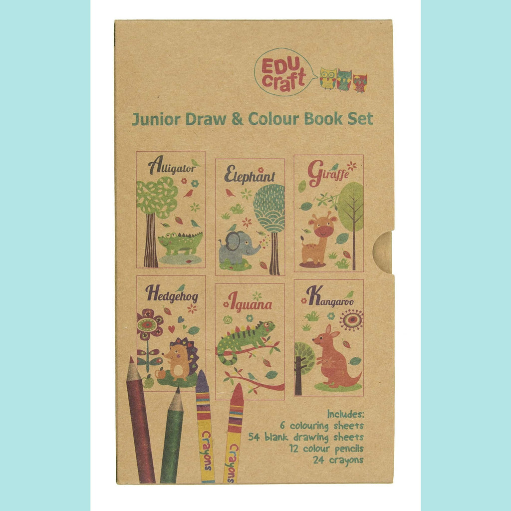 Educraft Drawing Sets - Junior Draw & Colour Book Set