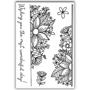 Julie Hickey - Fresh Florals Border Stamp Set
