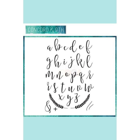 Concord & 9th SOPHISTICATED SCRIPT Clear Stamp Set 10056C9
