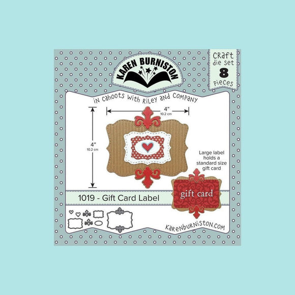 Karen Burniston - Gift Card Label Die Set
