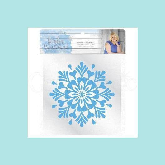 Crafters Companion Sara Signature Winter Wonderland Embossing Folder - Graceful Snowflake