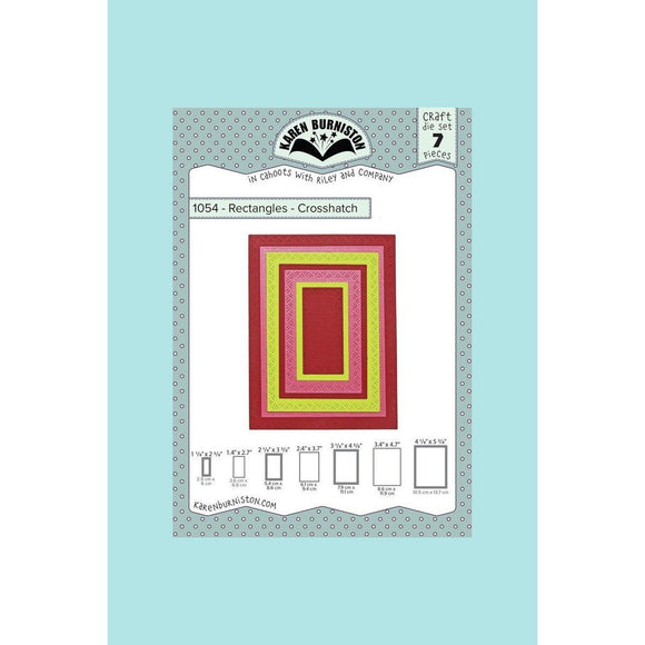 Karen Burniston - Rectangles Crosshatch Die Set