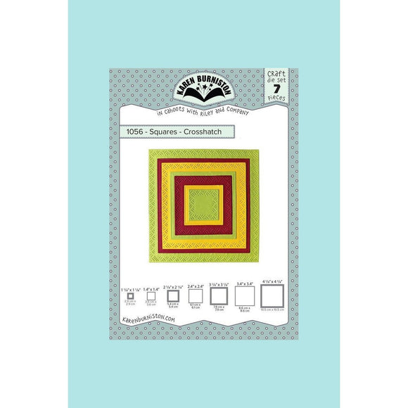 Karen Burniston - Squares Crosshatch Die Set