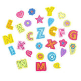 Darice -  Foamies Stickers - Animal Print Alphabet - Assorted Colours and Sizes - 165 pieces