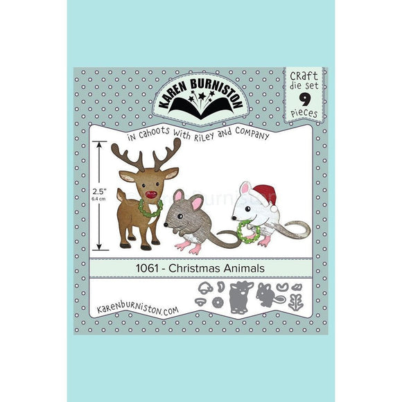 Karen Burniston - Christmas Animals Die Set